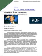 Berpikir Kritis bersama Pierre Bourdieu « Rumah Filsafat (The House of Philosophy)