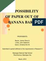 Paper Out of Banana Bark (SIP)