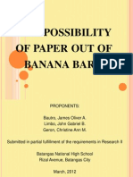 Paper Out of Banana Bark (SIP)