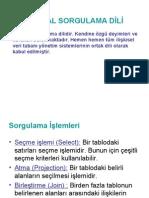 Verİtabani sql
