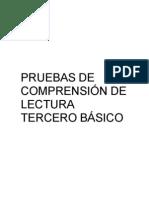 PRUEBAS DE COMPRENSIÓN DE LECTURA 3°