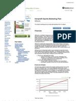 Nonprofit Sports Sample Marketing Plan - Financials