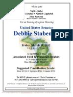 Evening Reception for Debbie Stabenow