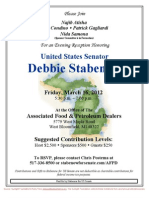 Evening Reception for Debbie Stabenow