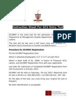 Instruction Sheet 2012 New