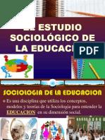 Capitulo i El Estudio Sociologico de La Educacion