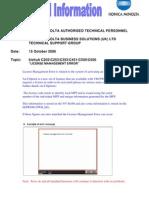 Bizhub c203 c253 c353 c451 c550 c650 License Management Error
