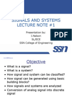 64066291 Signal System Introduction Lecture Notes