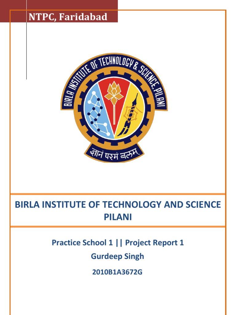 Bits pilani dissertation outline