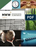 Reputation Matters the MWW Manifesto