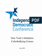 New York's Definitive Cyberbullying Census (June 2012)