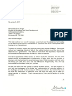 Agriculture and Rural Development Mandate Letter