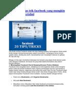 Kumpulan Tips Trik Facebook Yang Mungkin Belum Anda Ketahui