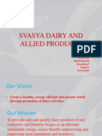 Svasya Dairy and Allied Products