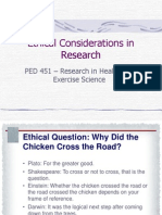 PED 451 Week 3 Ethical Considerations in Research