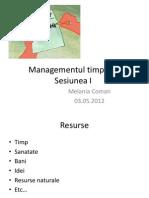 Managementul Timpului-Sesiunea 1
