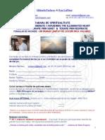 Formular Incriere - Tabara Spirituala (Trezira Inimii Iluminate ) - Sfinx - August 2012