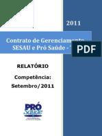 Pró-Saúde - SESAU-TO - PRESTAÇÃO DE CONTAS - Setembro - 2011