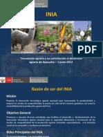 EXPOSICION INNOVACION AGRARIA Y CONTRIBUCION AL DESARROLLO AGRARIO AYACUCHO INIA