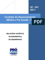 Pró-Saúde - SESAU-TO - PRESTAÇÃO DE CONTAS - QUADRIMESTRE - SETEMBRO - DEZEMBRO