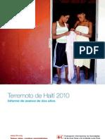Terremoto de Haití 2010 Informe de avance de dos años