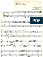 Mozart, W. a. - 12 Duos Faciles Para Violin
