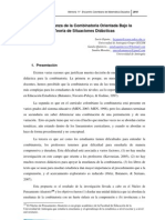 La Enseanza de La Combinatoria Orientada Bajo La Teoría de las Situaciones Didácticas
