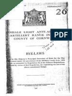 Penhale Light Anti Aircraft Artillery Range Byelaws