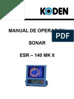 OPERACIÓN DEL SONAR KODEN140