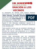 Comunicado Antena Isabel Allende
