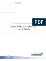 Sonicwall Ssl-VPN 2.1 Users Guide