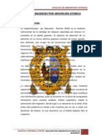 ANÁLISIS DE MAGNESIO POR ABSORCIÓN ATÓMICA