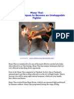 Muay Thai Secret Techniques to Become an Unstoppable Fighter
