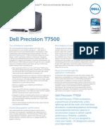 Dell Precision T7500 Spec Sheet English