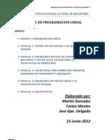 Manual Programacion Lineal - Martin Gonzalez - Carlos Mireles - Jose Delgado 06212012