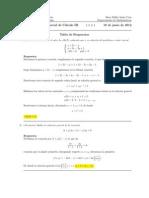 Corrección Segundo Parcial, Cálculo III, 18 de junio de 2012