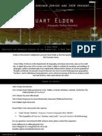 Stuart Elden Seminar