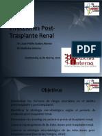 Infecciones Post Transplante Renal