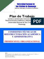 (P1) PLAN DE TRABAJO REESTRUCTURACIÓN UNSCH 2012