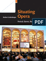 Situating Opera Period Genre Reception - Cambridge Studies in Opera