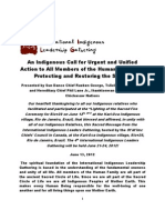 For Immediate Release, An Indigenous Call to Action-Rio+20