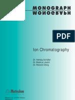 Cromatografía iónica - Metrohm