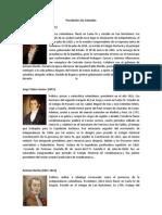 Lista de Presidentes de Colombia