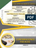 Unidad III.- Contribuciones Fiscales.