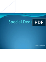Special Deductions - 97 Format for Presentation Only