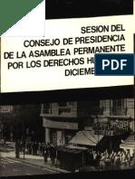 1979 - Asamblea Permanente DDHH - Sesion Del Consejo de Presidencia