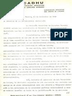 1980 - CADHU - Al Congreso de La Internacional Socialista