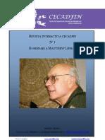 Revista CECADFIN Primer_numero Homenaje a Lipman