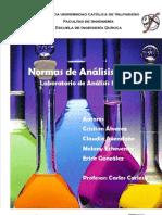 Normas de Analisis Químico-Laboratorio de Analisis industrial
