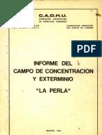 1980 - Informe Del Campo de Concentracion y Extermino La Perla